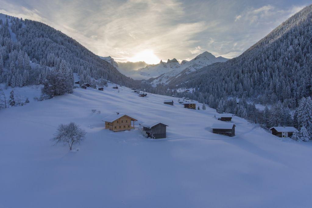 Berghaus Gauertal im Winter (Montafoner Hof)