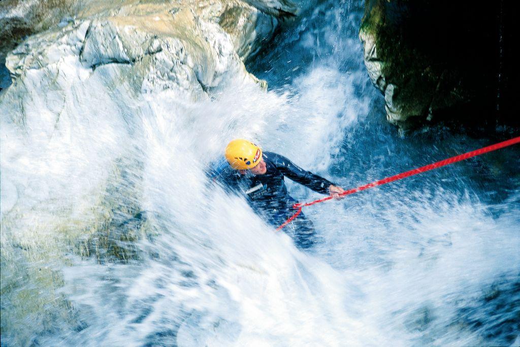 Canyoning im Urlaubsgebiet Tux Finkenberg