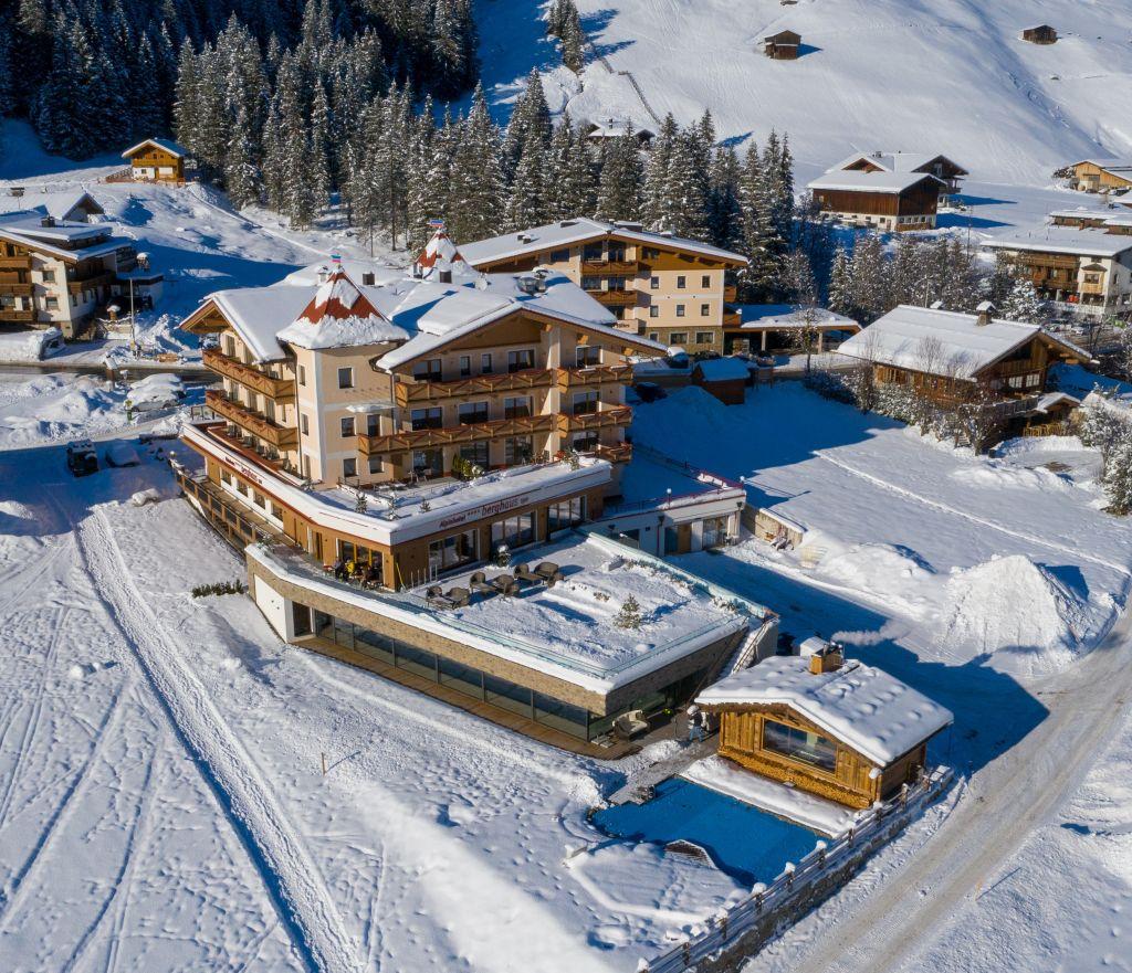 Das Alpinhotel Berghaus im Winter (Alpinhotel Berghaus)
