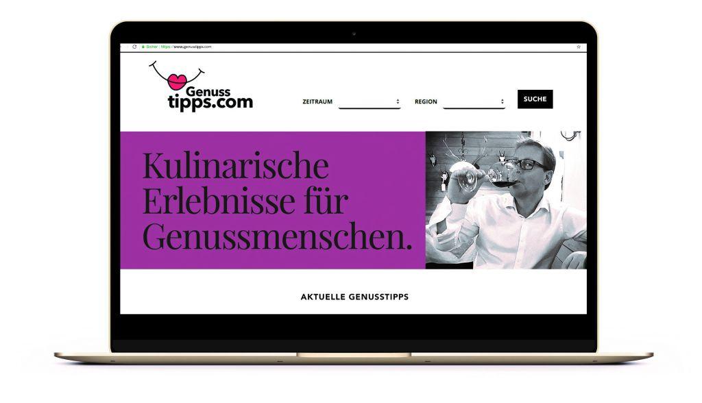 Genusstipps.com - Neue Plattform für Kulinarische Events (Schenkenfelder Kommunikation)