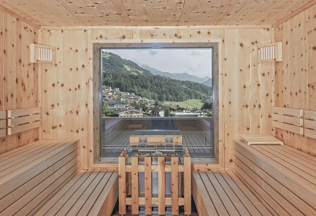 Sauna im PenthouseSPA (Mia Alpina . Zillertal Family Retreat)