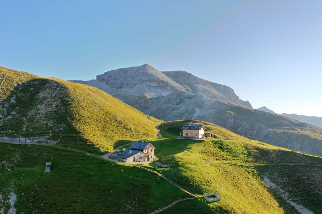 Stevia Hütte auf dem Stevia Berg (Hotel Granbaita Dolomites)