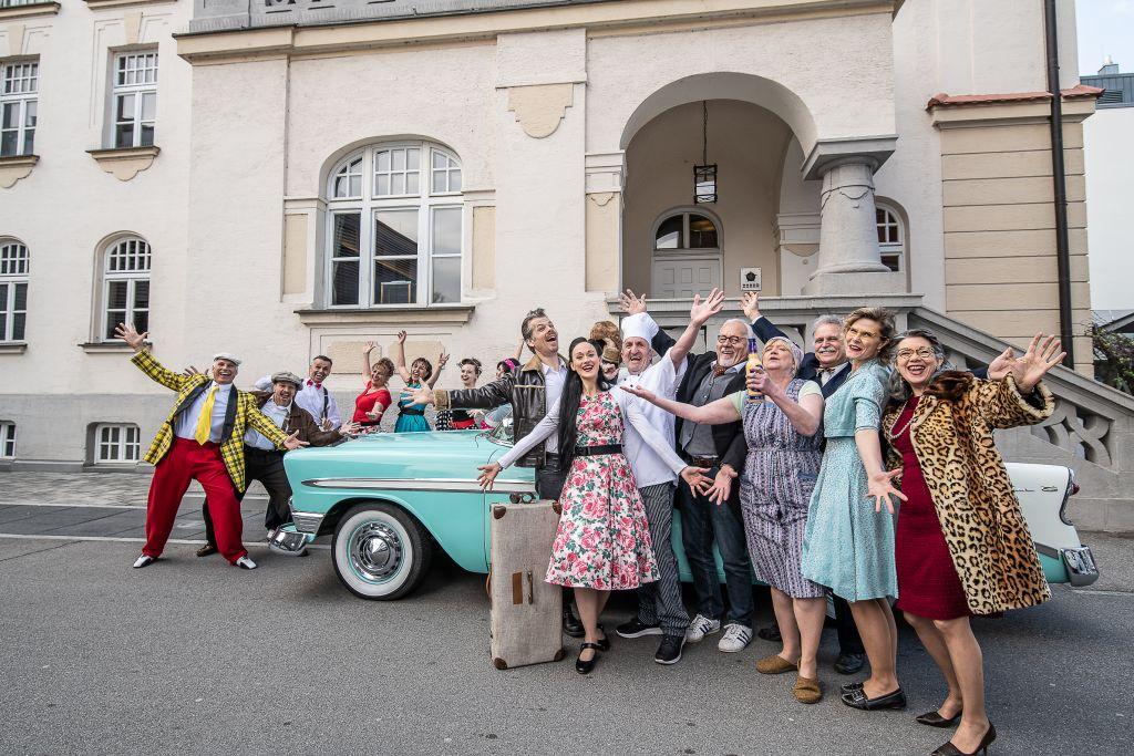 Theater Crew des Krimi-Dinners in der Asam-Hütte (Hotel Asam)