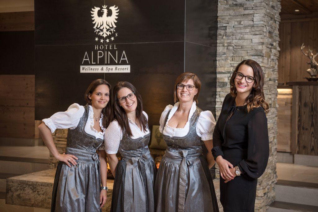 Verwöhn-Team im Hotel Alpina Kössen