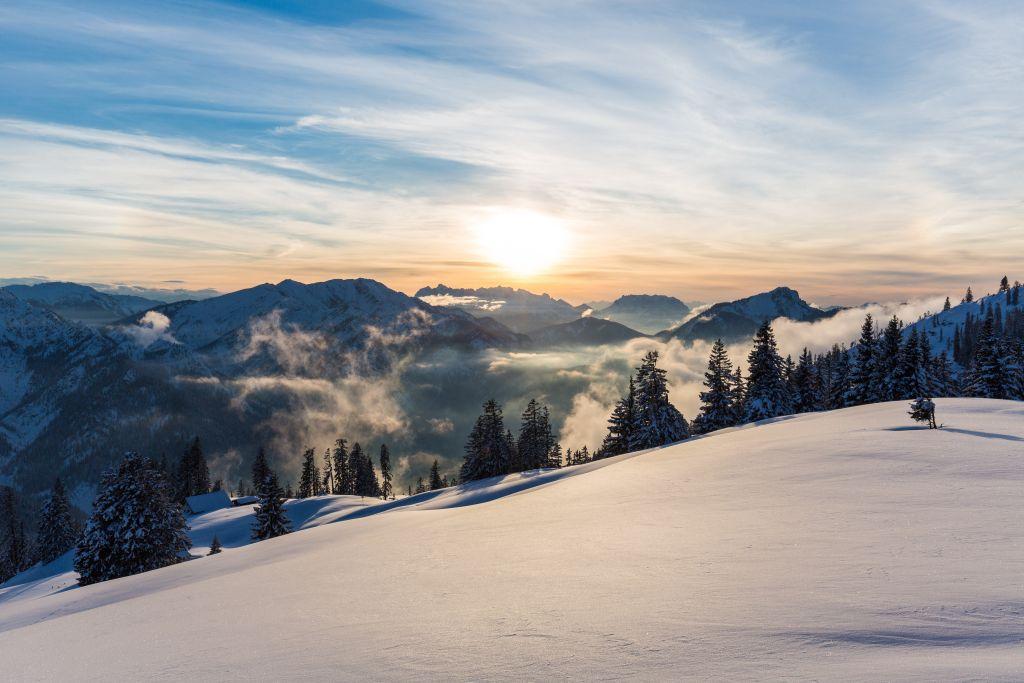 Winterpanorama Ruhpolding