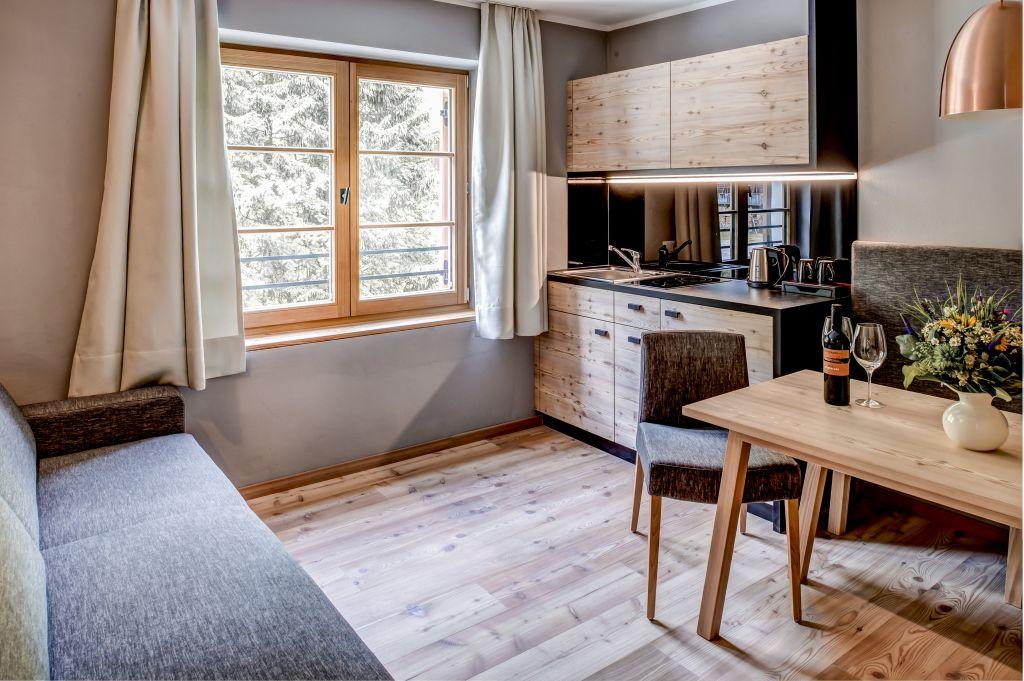 Wohnbereich im Apartment Kauschkahorn (Alpengasthof Zollwirt)