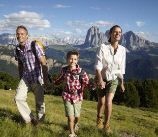 Familienwandern beim Cavallino Bianco