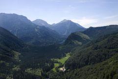 Ausblick auf das Gebirge vom Landhotel Post Ebensee aus