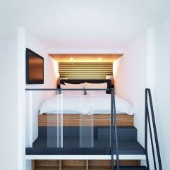 Bett im roomz am Praterstern (roomz Vienna Prater)