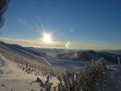 Atemberaubende Winterlandschaft beim Ratscher Landhaus (winzerhotels)