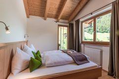 Aufwachen mit Bergblick in der Juniorsuite (Naturhotel Rainer)