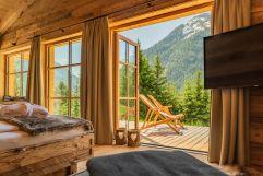 Aufwachen mit Panoramablick (Benglerwald Berg Chaletdorf)