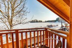 Ausblick vom Bakon im Winter (Bayern Chalets)