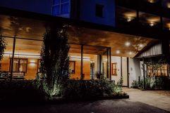 Außenansicht des Hoteleingangs (c) Wanderhotel Vischgerhof