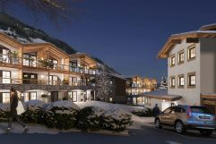 Außenansicht Winter auf die Tauernsuites Mittwerwirt (Alps Residence)