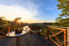Aussichtsplattform mit Donaublick im Römerpark Schlögen (c)kaindlstorfer (Riverresort Donauschlinge)