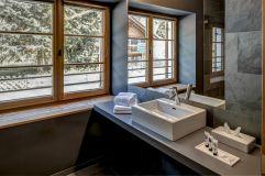 Badezimmer im Apartment Kahorn im Alpengasthof Zollwirt (c) Peter Leitner
