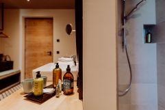Badezimmer im Panoramazimmer (c) Karin Bergmann (Ratscher Landhaus)