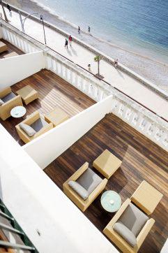 Balkon aus der Vogelperspektive (Hotel Espléndido)