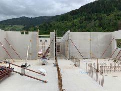 Baufortschritt im Untergeschoss von innen (COOEE alpin hotel Bad Kleinkirchheim)