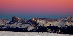 Bergpanorama bei Sonnenuntergang (Tourismusverein Klausen)