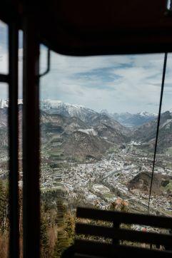 Blick auf Bad Ischl von der Gondel aus (Hotel Goldenes Schiff)