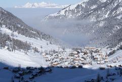Blick über den Nebel (Hotel Gorfion Familotel)