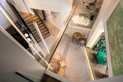 Blick von oben auf die Lobby (c) innenraumdesign.at (Hotel Blü Gastein)