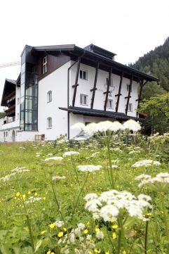 Blumenwiese vor Valluga Hotel (VALLUGA Hotel)