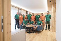 Das fleißige Handwerker-Team (Hotel Gorfion Familotel)
