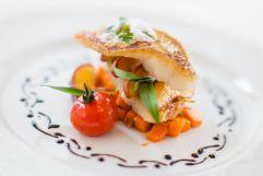 Delikates Fischgericht (Hotel Concordia)