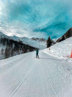 Die besten Pistenbedingungen für Skifahrer (Alpinhotel Berghaus)