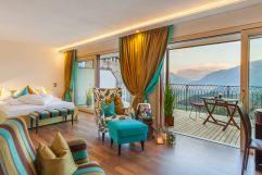 Doppelzimmer mit großem Balkon im Schloss Korb (winzerhotels)