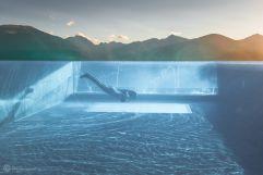Eintauchen in das Erlebnis Skypool (Alpin Panorama Hotel Hubertus)