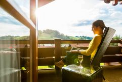 Entspannen am Balkon (Hotel Concordia)