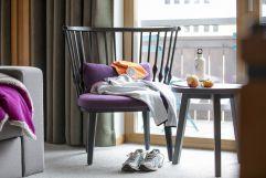 Entspannung im Hotelzimmer nach dem Sport (c) Johanna Gunnberg (VALLUGA Hotel)