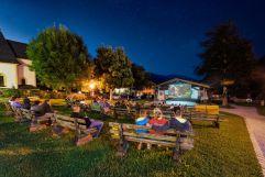 Fallkino im Freien mit Sternenhimmel im Sommer (Tourismusverband Krimml)