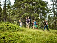 Familie wandert am Tillys Waldpfad (c) MAYA Inspiranto (Tourismusverband Rauris)