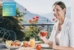 Frau genießt leckeres Frühstück  (c) Tiberio und Golserhof (Hotel Golserhof)