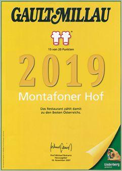 Gault Millau 2019 (Montafoner Hof)