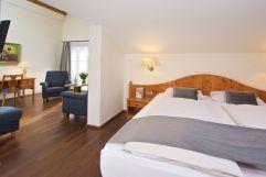 Gemütlicher Schlafbereich in der Juniorsuite (c) Heimplätzer Werbefotografie (Concordia Wellnesshotel & Spa)