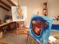 Hauseigenes Künstleratelier