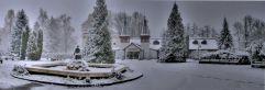 Heilbad mit Brunnen im Winter Heviz