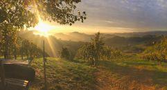 Herbstlicher Sonnenuntergang (Ratscher Landhaus)