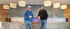 Hermann Maier und Rainer Schönfelder - die Initiatoren der COOEE alpin Hotels (COOEE alpin hotel Bad Kleinkirchheim)