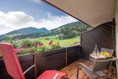 Herrlicher Ausblick vom Balkon (Hotel Waldfriede)