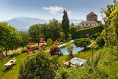 Hotelgarten im Schloss Hotel Korb
