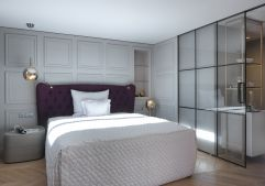 Individuell gestaltetes Einzelzimmer in edlem Design (c) Rainer Hofmann Photodesign (Hotel Zürserhof)