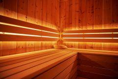 Innenbereich der Sauna im Hotel MorgenZeit (c) Youngmedia