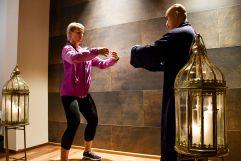 Kickboxweltmeisterin Nicole Trimmel profitiert vom gemeinsamen Training mit Shaolin-Großmeister Shi Yan Liang (Hotel Larimar)